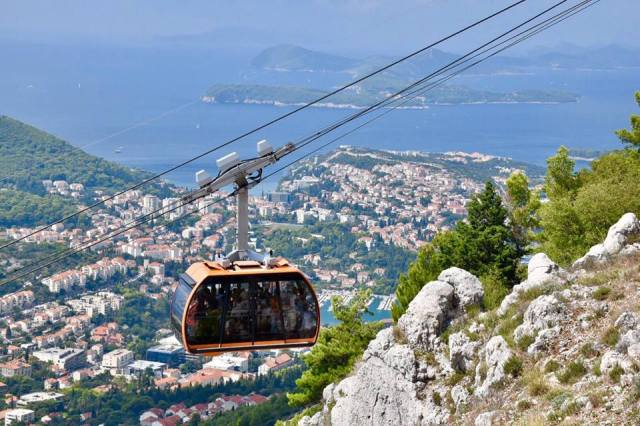 Looking down on Dubrovnik from the cable car