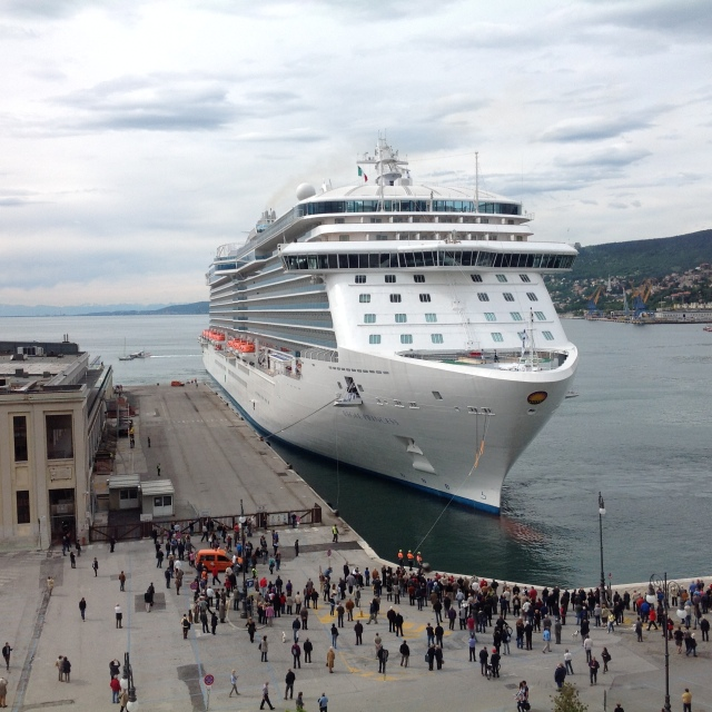 Quick - get entering!! Regal Princess in Trieste