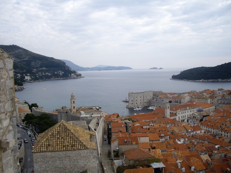 Dubrovnik from the city walls