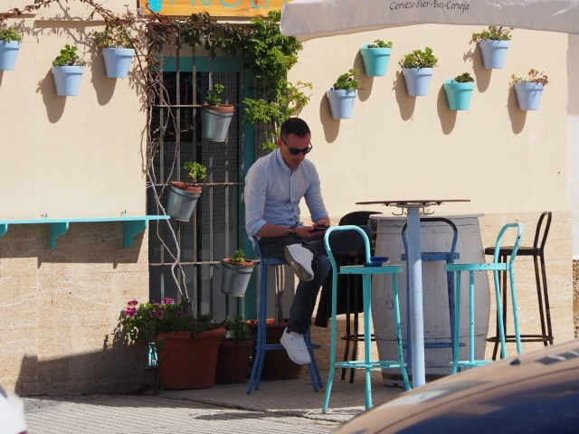 A shady spot to have a break in cadiz