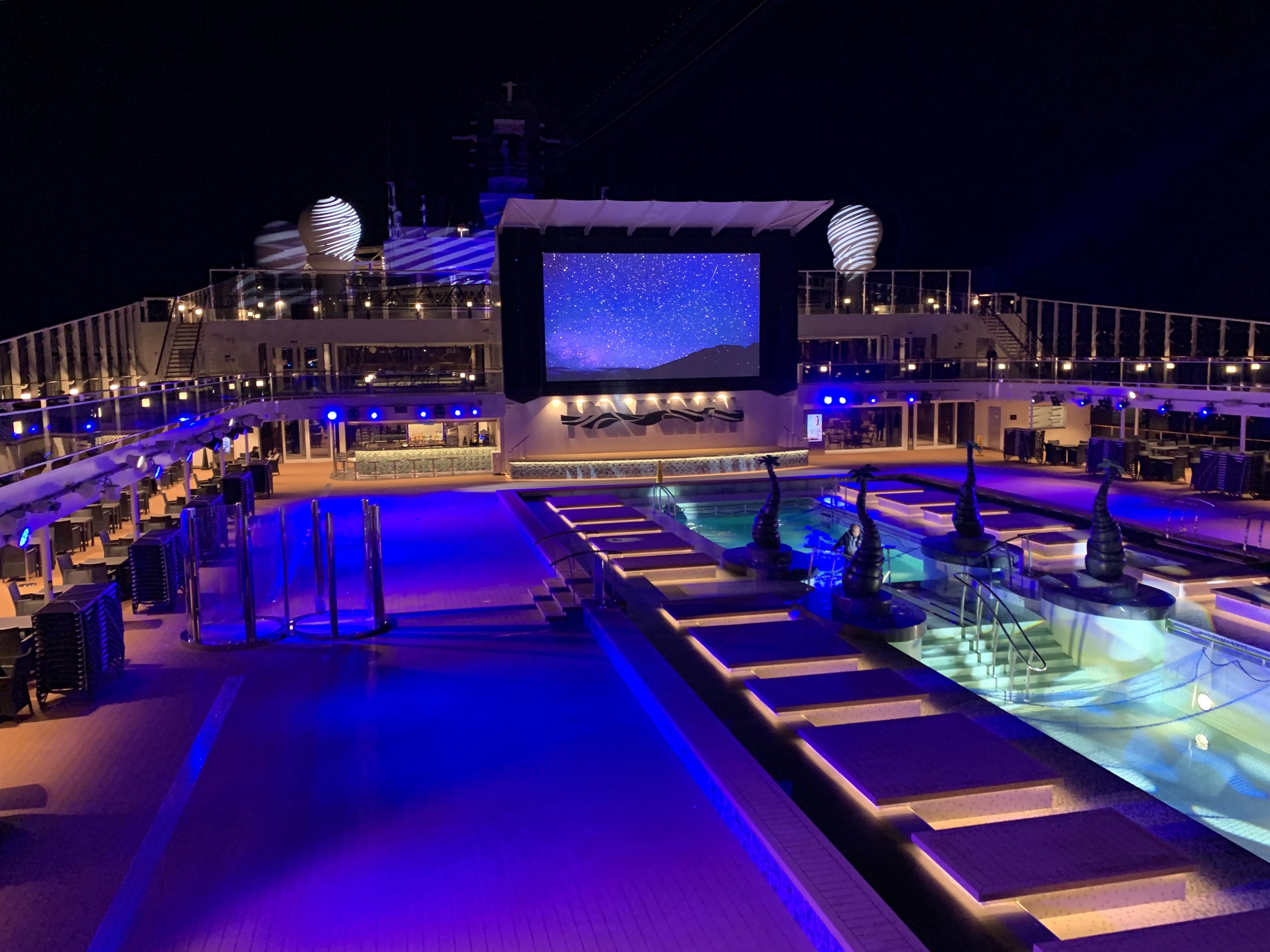 MSC Beliissima by night…beautiful indeed!