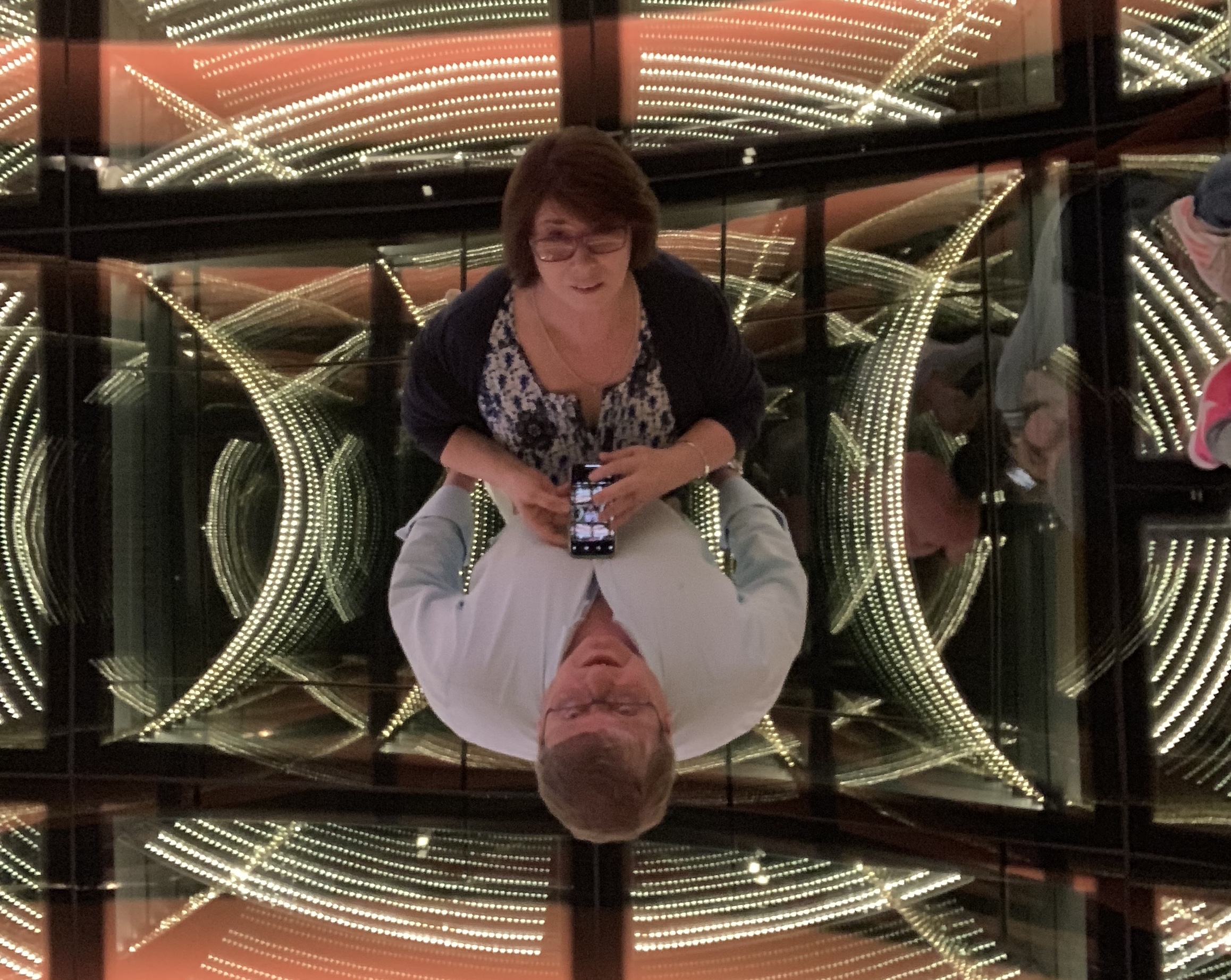 The stunning mirrored floor and ceiling in the entrance to the casino makes for a cool shot!